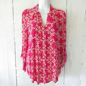 Maeve Anthropologie Top Roll Tab Sleeves XS S